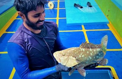Nadheef is a young grouper fisherman