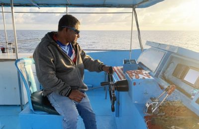Zain is one of the youngest owners of a fishing vessel